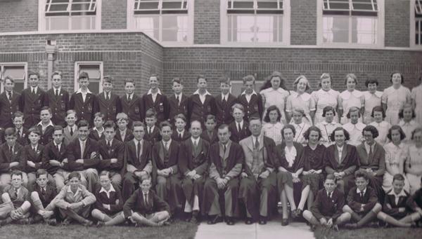 1930s school photo of students