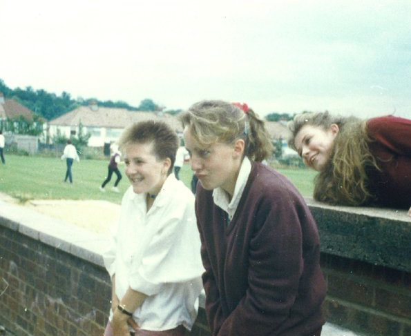 students in the field in the 80s