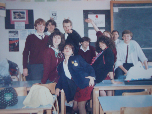 students in the 80s