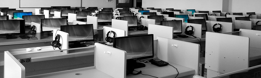 computers in a classroom