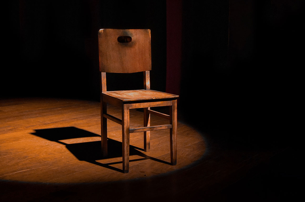 chair and spotlight