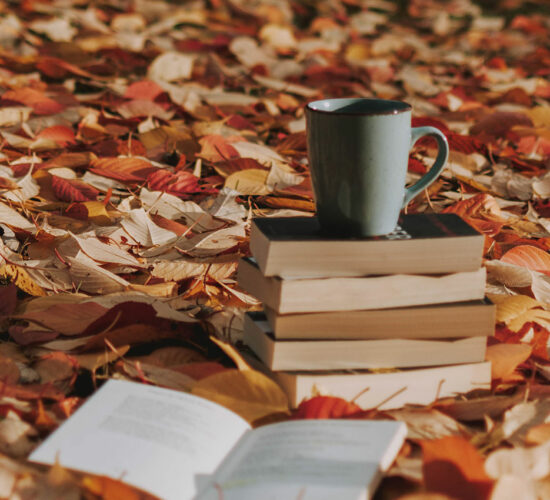 leaves and books