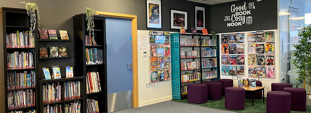 east barnet school library cosy nook
